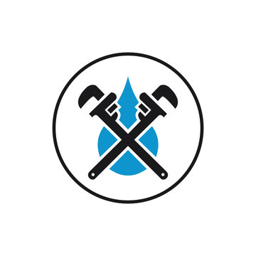 Plumbing service logo design, icon, Vector, illustration