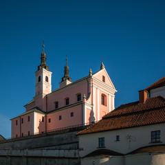 Fototapeta Church and monastery in Wigry on a sunny day, Podlaskie, Poland