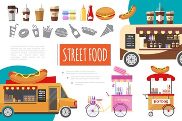 Flat Street Food Composition