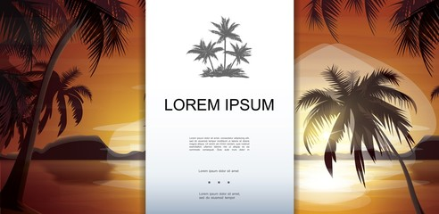 Wall Mural - Tropical Nature Landscape Template