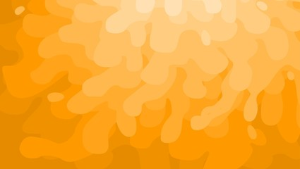 Abstract background orange paint splash and waves in vector shape, Summer background and banner with water, cartoon, HD, radial ramp light to dark, sand