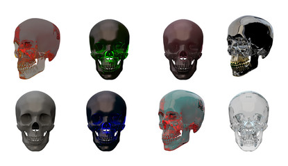 3d rendering illustration of skull anatomy