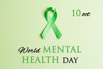 World mental health day concept. Wall mural
