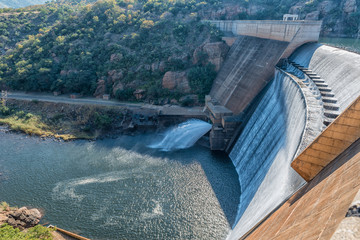 Dam wall of the Blyderivierspoort Dam