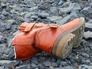 Schuh in der Natur