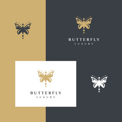 Butterfly logo design Elegant and Luxury