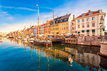 Fototapete - Nyhaven, Kopenhagen, Dänemark,