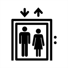 Elevator icon. vector illustration