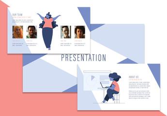 Presentation Layout with Illustrative Elements