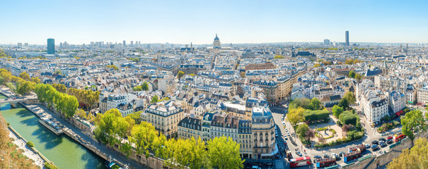 Photo sur Toile Paris Panorama of city of Paris with cityscape and Paris city view