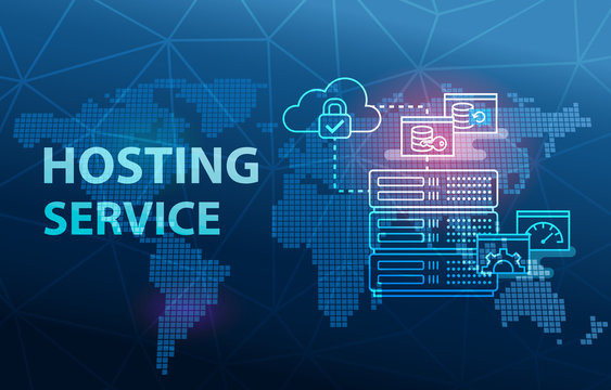Web Hosting Technology Internet and Networking Service Background