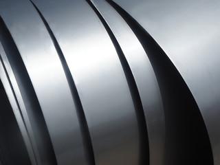 Foto op Plexiglas Metal aluminium composite foil sheet panel for roofing solution.