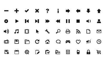 set icon button vector flat