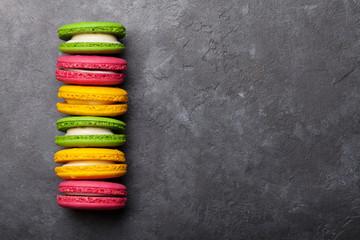 Spoed Foto op Canvas Macarons Cake macaron or macaroon sweets