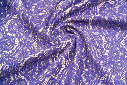 Background texture. Template. Warm wool fabric covered with lace fabric. What are you doing with this Millie Thil and blue lace printed silk and wool twill? it would be a great choice for design,