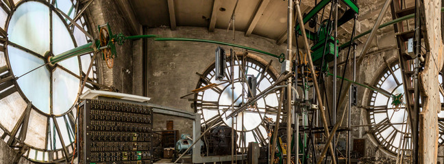 Clock room works in tower