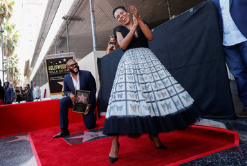 Movie mogul Tyler Perry receives a star on the Hollywood Walk of Fame in Los Angeles