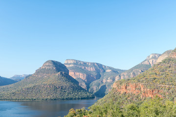 View of Blyderivierspoort Dam and the Blyde River Canyon