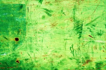 Wall Mural - Grunge green scratched texture