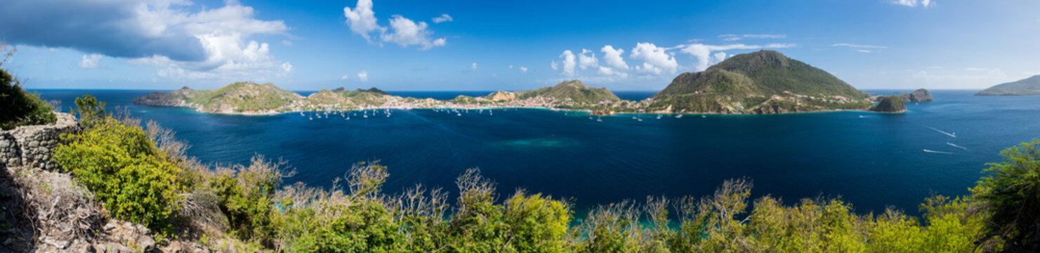 Guadeloupe - Panorama des Saintes depuis l'îlet à Cabrit