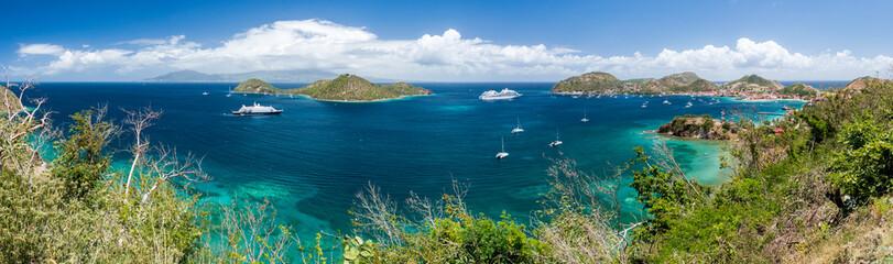 Guadeloupe - Panorama de Basse-Terre depuis Les Saintes