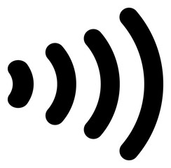 Vector wireless flat icon. Vector pictogram style is a flat symbol wireless icon on a white background.