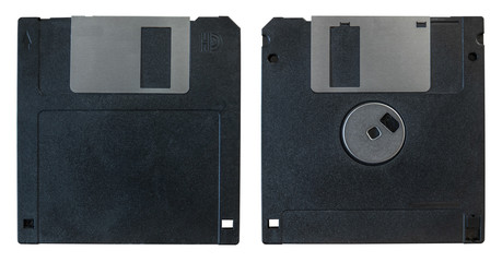 Front And Back Floppy Disk