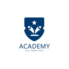School logo design vector, educational concept. Abstract and simple concept for university or academy. Vector illustration