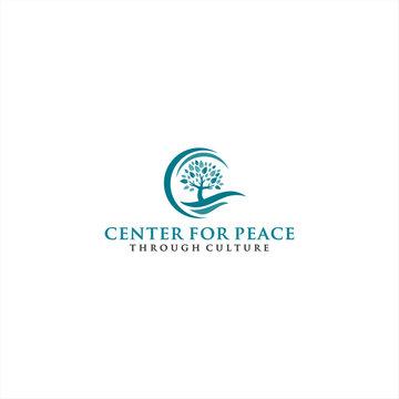 Cross Tree Logo Design idea