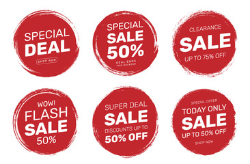 Stamp Tag Badge Sale Discount For Shop Business