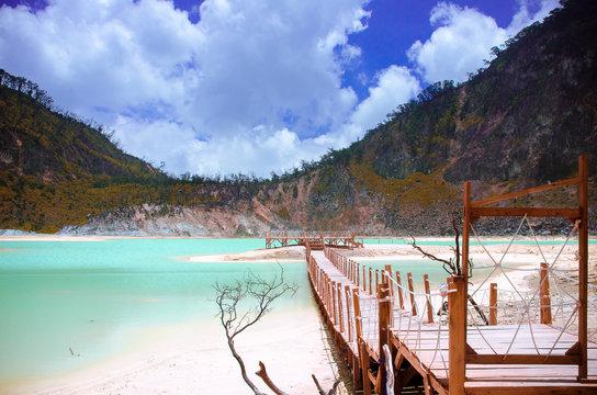 lake in mountain - Kawah Putih, Ciwidey, Bandung, West Java, Indonesia