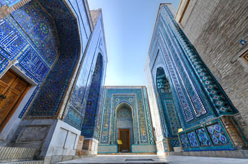 Zelfklevend Fotobehang Oude gebouw Shah-i-Zinda - Samarkand, Uzbekistan