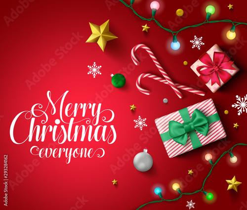 Christmas Vector Background Free.Christmas Vector In Red Background Template Merry Christmas