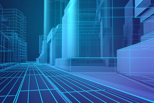 futuristic architecture rendering