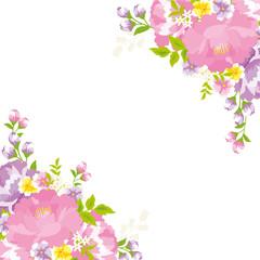 花柄フレーム 台湾花布