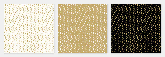 Tuinposter Kunstmatig Background pattern seamless geometric line abstract gold luxury color vector.
