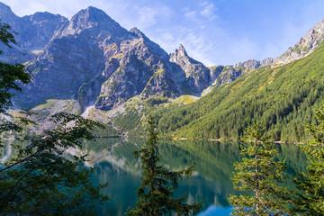 Fototapeta Morskie Oko lake in the Tatra mountains - Poland obraz