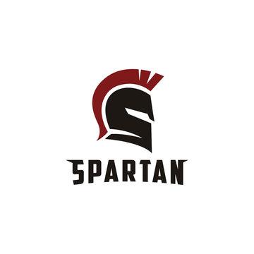 S letter for Spartan logo, spartan Warrior Helmet logo