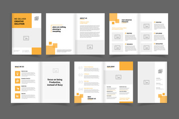 professional corporate business brochure design vector template