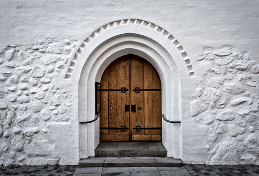 door of church