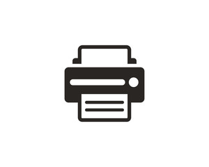 Printer icon symbol vector