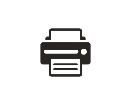 Printer icon symbol vector