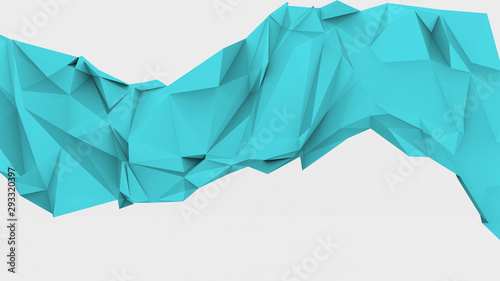 Geometric Shape Triangular Light Blue Cyan Wave Wake