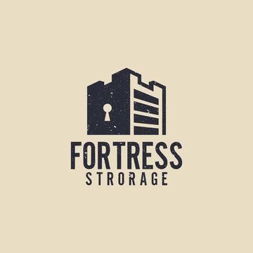 Fortress storage logo