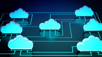 Wall Mural - Cloud Computing Network concept