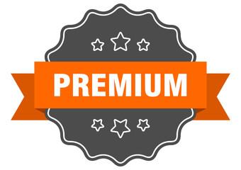 premium isolated seal. premium orange label. premium