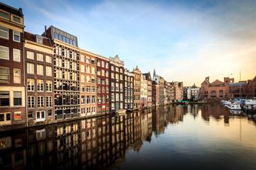 Photo sur Aluminium Amsterdam canal in amsterdam