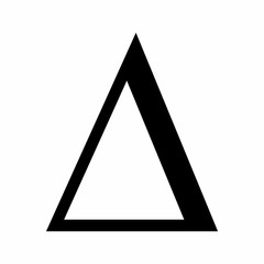 Delta icon illustration