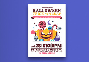 Colorful Halloween Party Flyer Layout