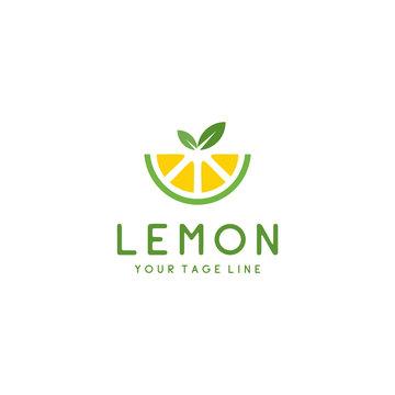 Lemon fresh logo fruit design icon Vector Illustration.